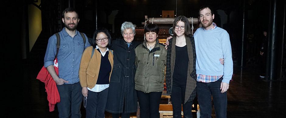 Professor Ann Hamilton with MFA students in Wuzhen, China