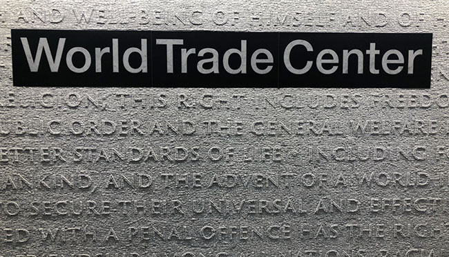 Hamilton World Trade Center Art Piece