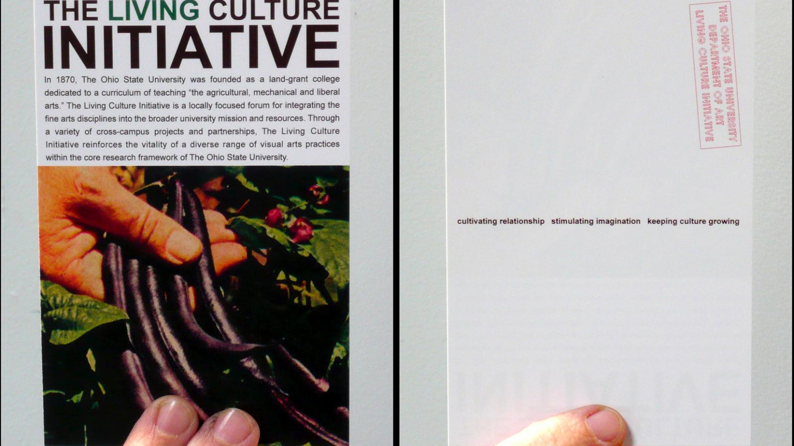 The Living Culture Initiative (postcard) 2005