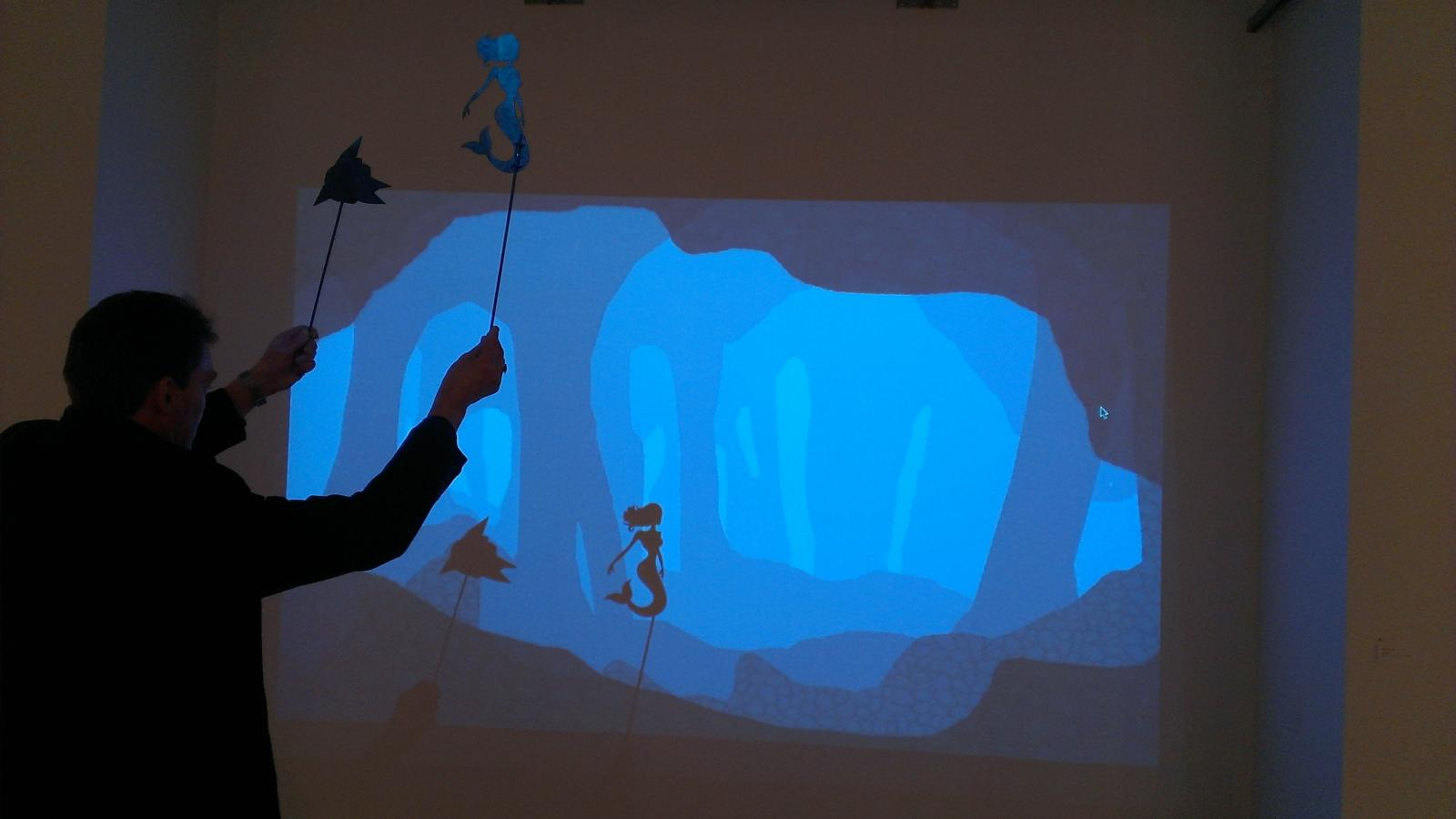 Katelyn Messenger, interactive shadow animation, BFA Exhibition