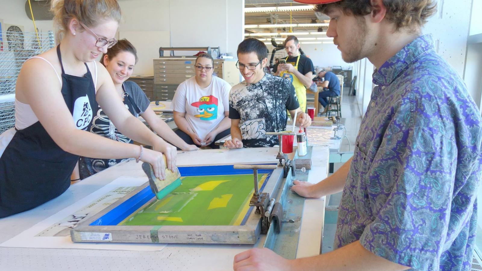 een Printing with Visiting Artist Ashely Nason