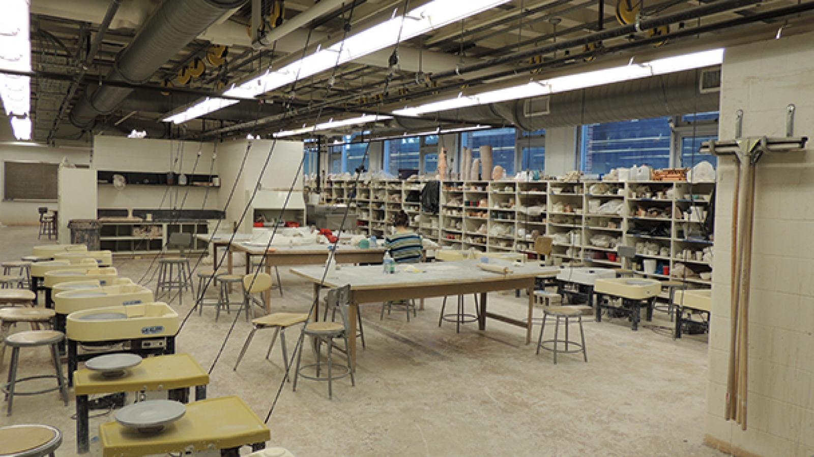 Ceramics studio and classroom