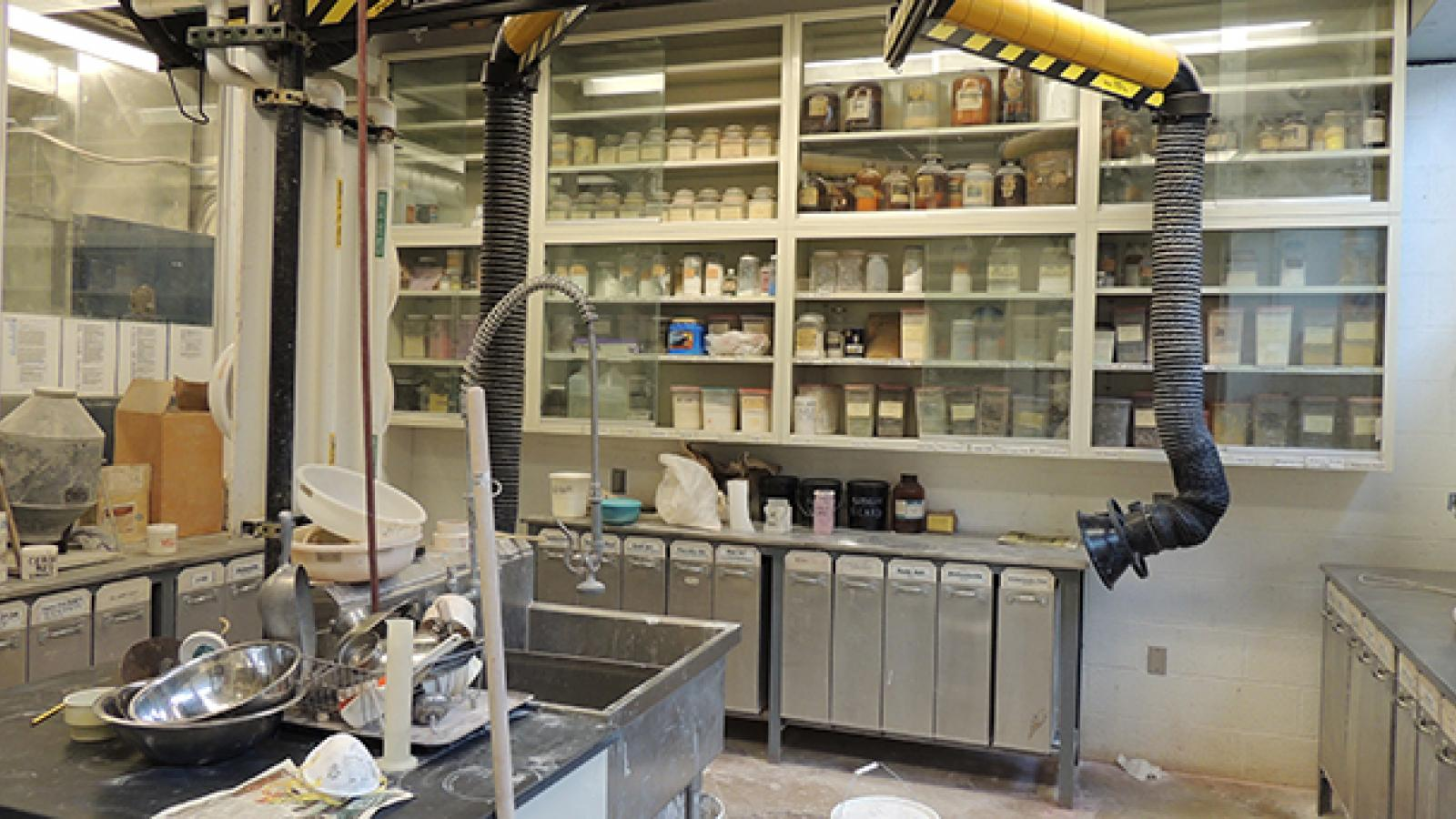 Ceramics work room