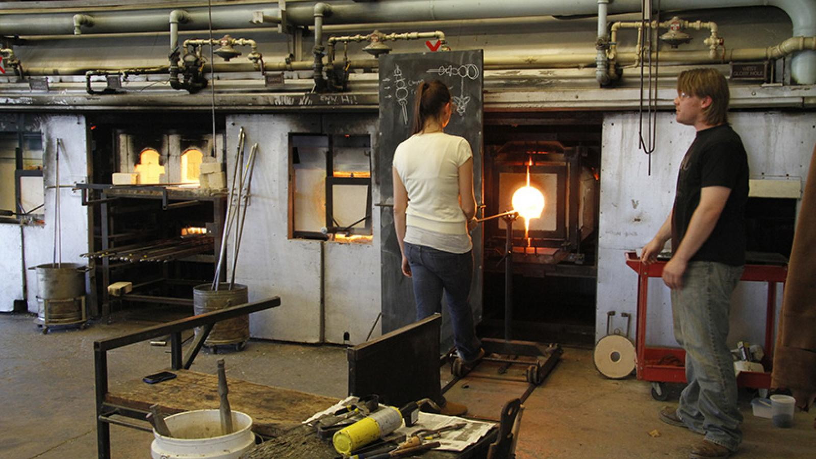 Glass furnaces at Sherman Studio Art Center