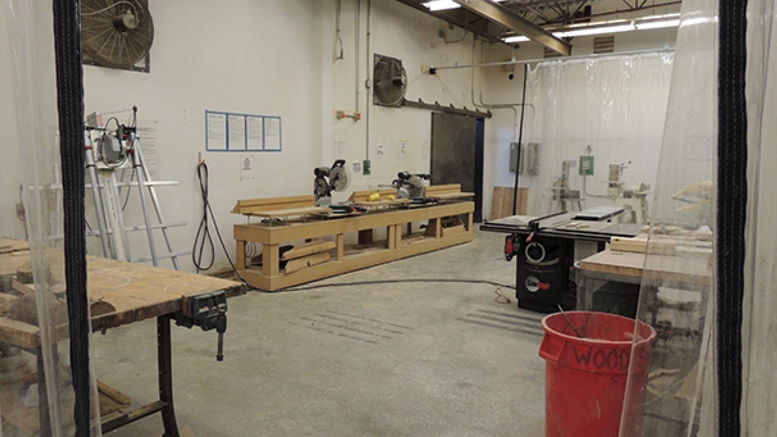Woodshop area for Sculpture students